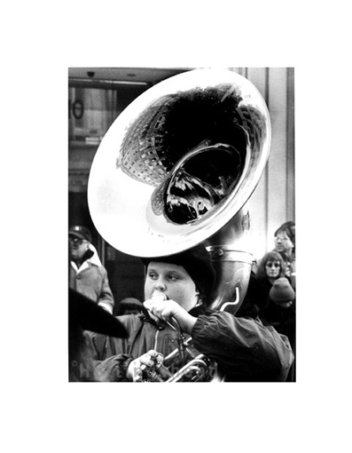 January 2002 Band member in New Year's Day parade, Haymarket