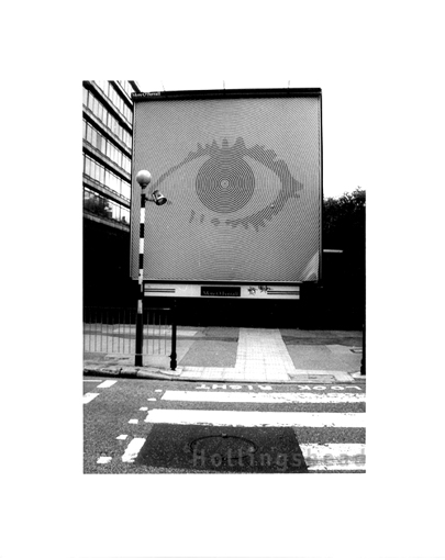 May 2002 Sign advertising Big Brother by St George's Circus