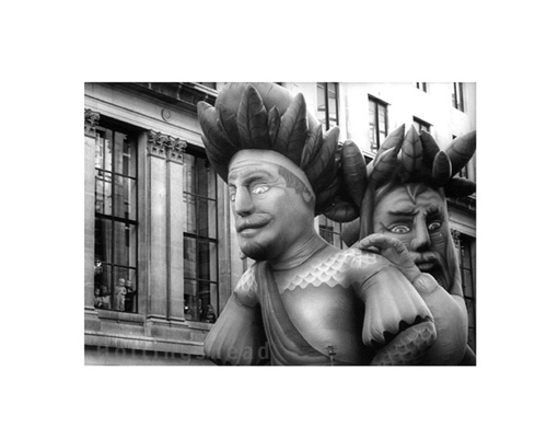 November 2001 Gog and Magog pass through Mansion House in Lord Mayor's Show